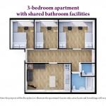 3 Bedroom Shared Bathroom