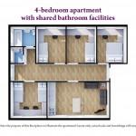 4 Bedroom Shared Bathroom