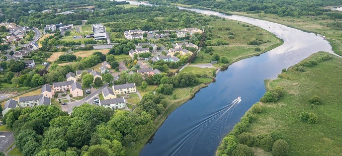 Corrib Village Aerial 680×310